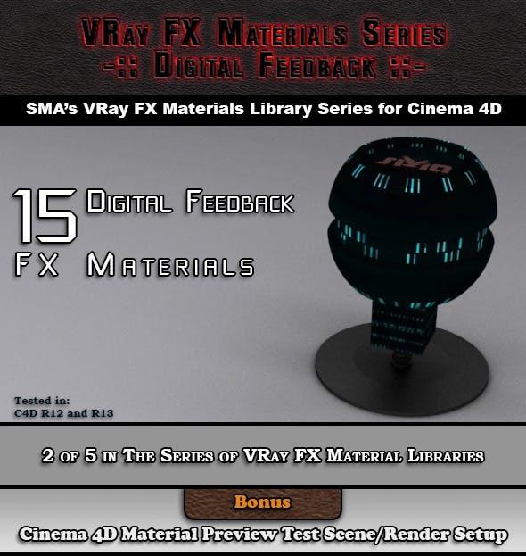 15 VRay FX Digital Feedback Materials Pack C4D - 3DOcean Item for Sale