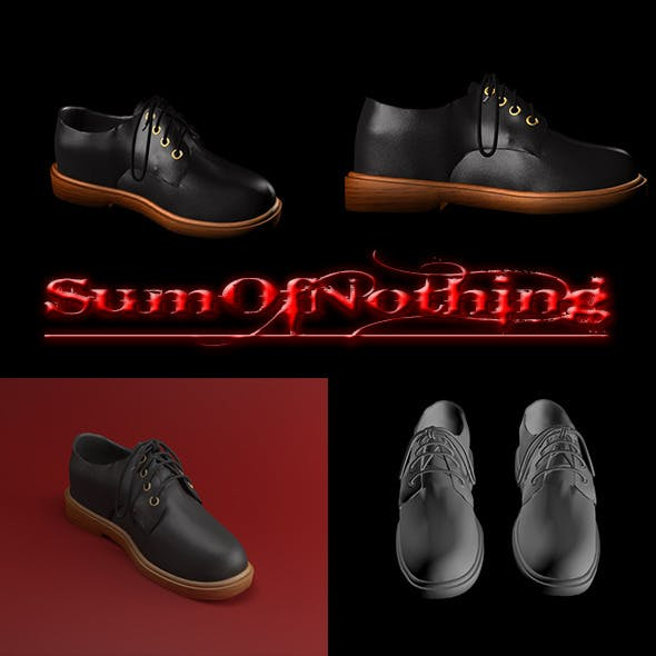 Leather Dress Shoes - 3DOcean Item for Sale