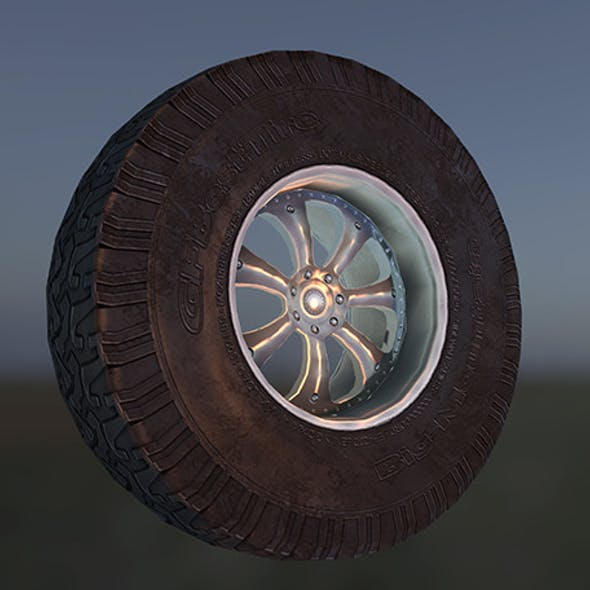Low poly Next Gen car wheel.