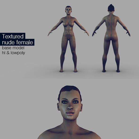High Quality Textured Nude Female