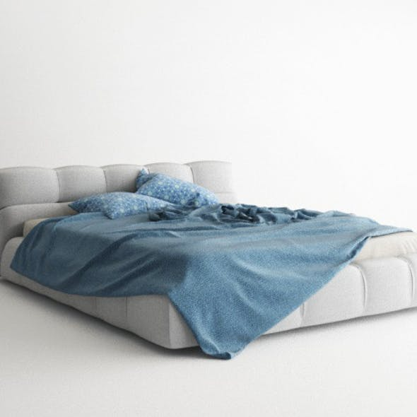 Bed Model + Materials - Vray for C4d