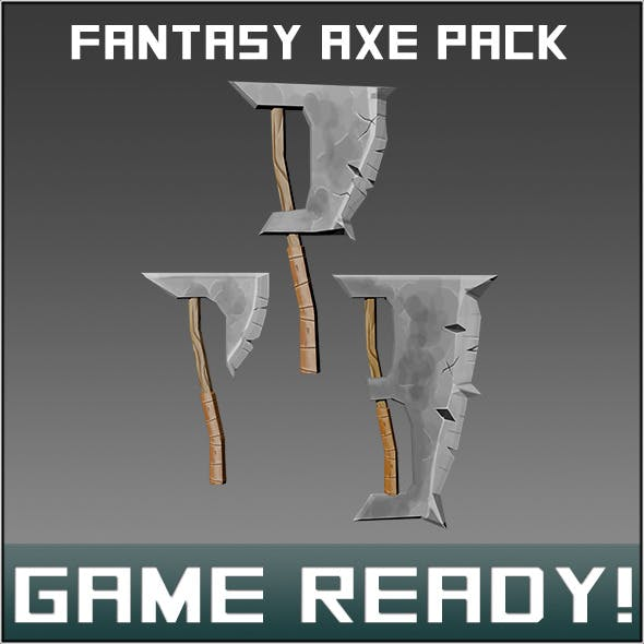 Fantasy Weapon Axe Pck - 3DOcean Item for Sale