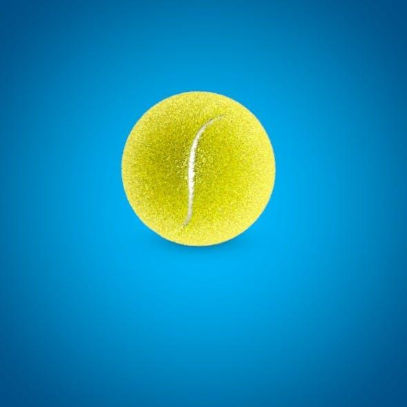 high poly tennis ball 3D model