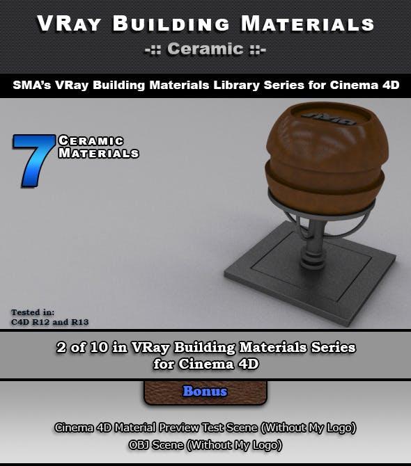 7 VRay Ceramic Materials for Cinema 4D - 3DOcean Item for Sale