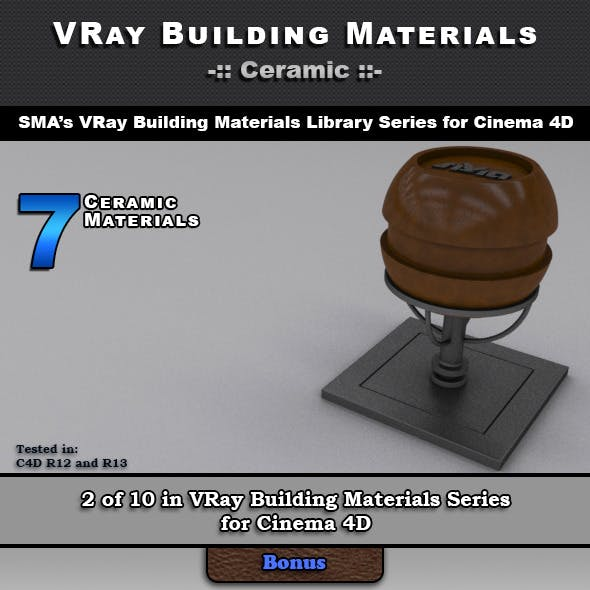 7 VRay Ceramic Materials for Cinema 4D