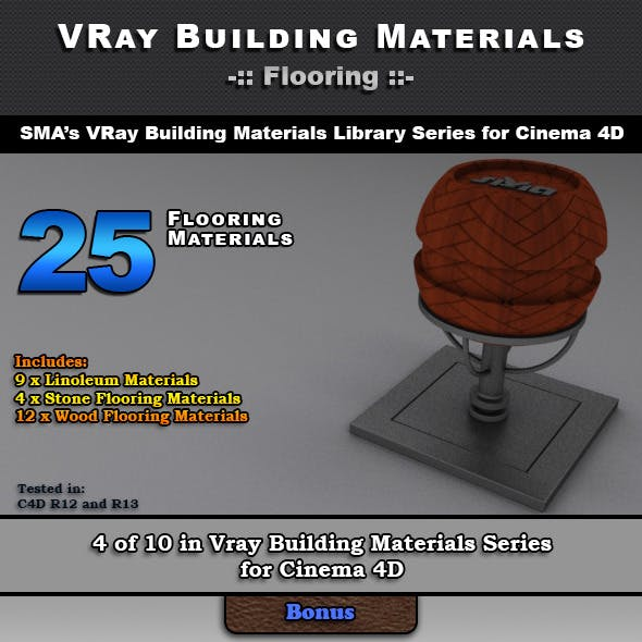 25 VRay Flooring Materials for Cinema 4D