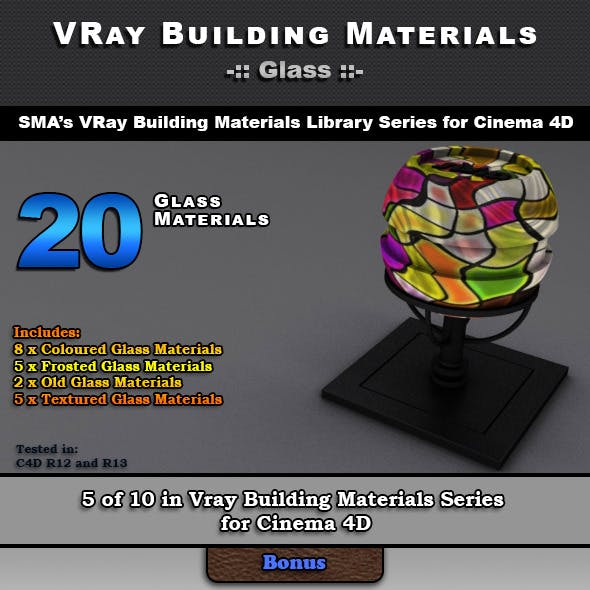 20 VRay Glass Materials for Cinema 4D