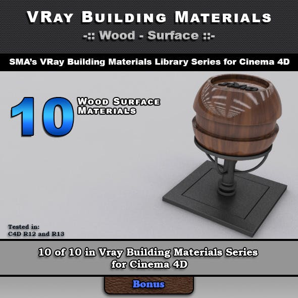 10 VRay Wood Surface Materials for Cinema 4D