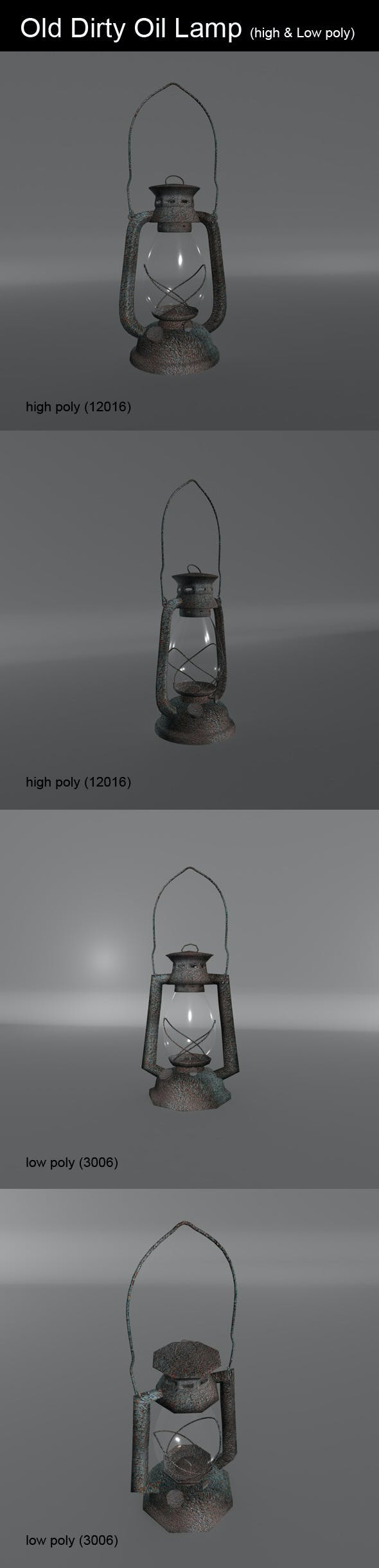 Old Dirty Oil Lamp - 3DOcean Item for Sale