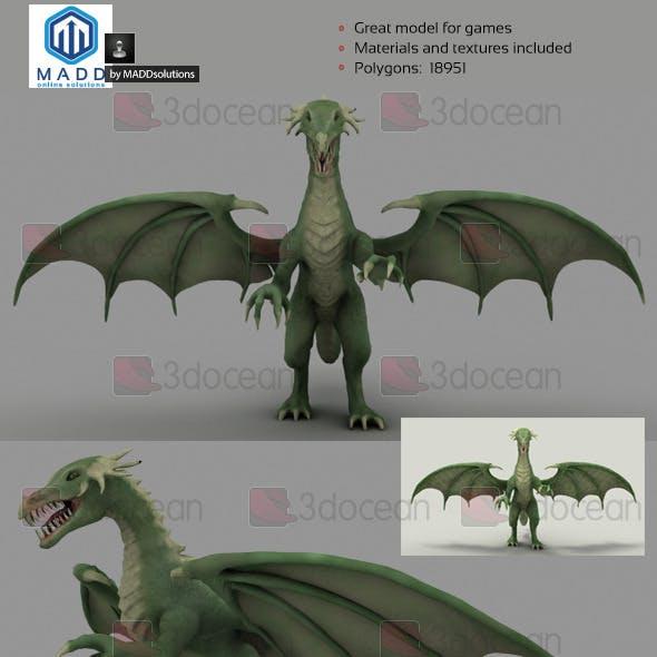 Mid Poly Green Dragon - 18951 polygons