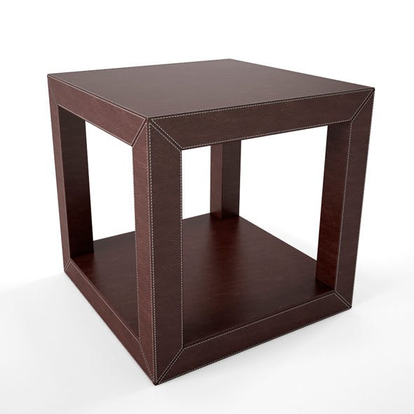 Leather Coffee Table - 3DOcean Item for Sale