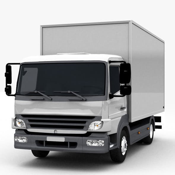 Commercial Truck - 3DOcean Item for Sale