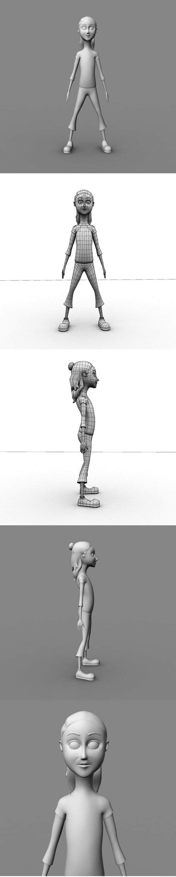 Base Mesh Cartoon Girl - 3DOcean Item for Sale