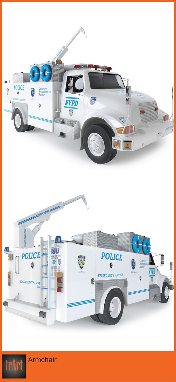 Fire Radio Truck - 3DOcean Item for Sale