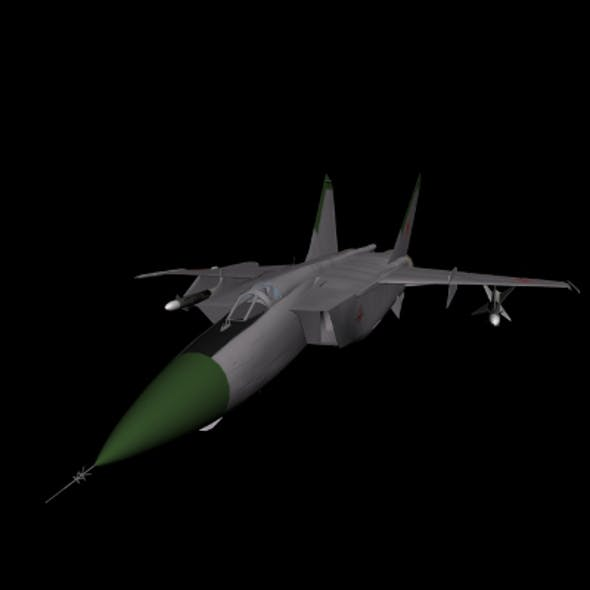 MiG-25 Interceptor Aircraft - 3DOcean Item for Sale