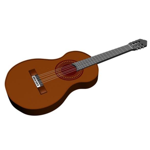 Guitar 01 - 3DOcean Item for Sale