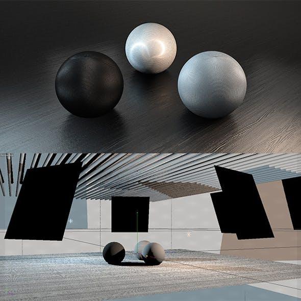 C4D Vray Studio + 3 Materials