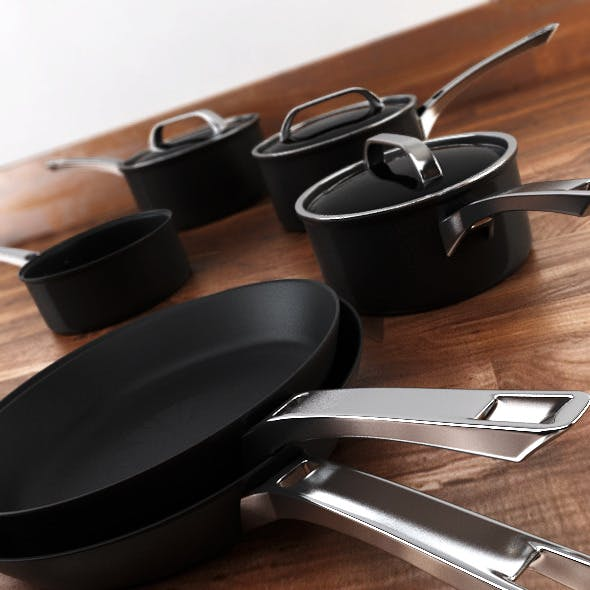 6 piece Pan Set - 3DOcean Item for Sale