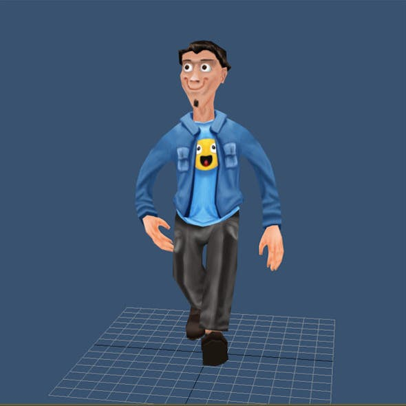 Casual man low poly