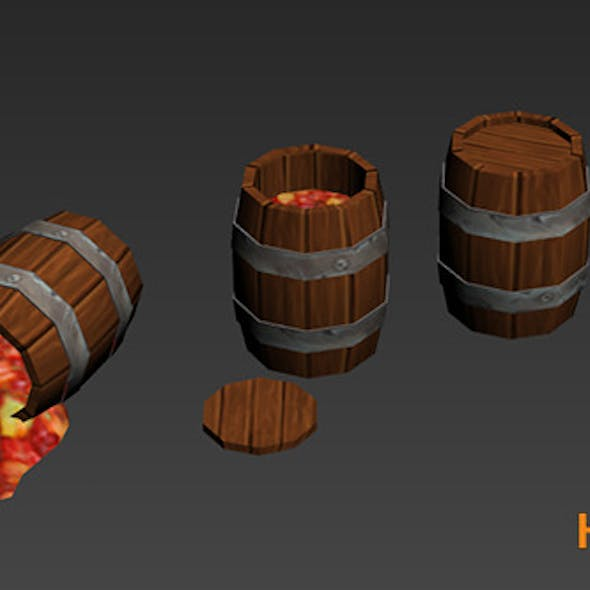 Cartoony Barrels