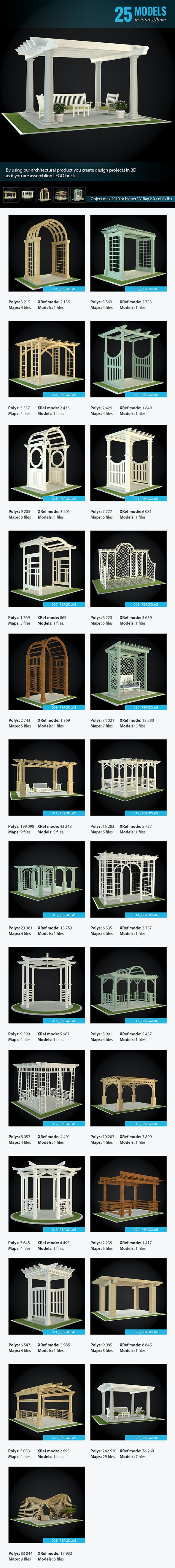 Pergolas Collection - 3DOcean Item for Sale