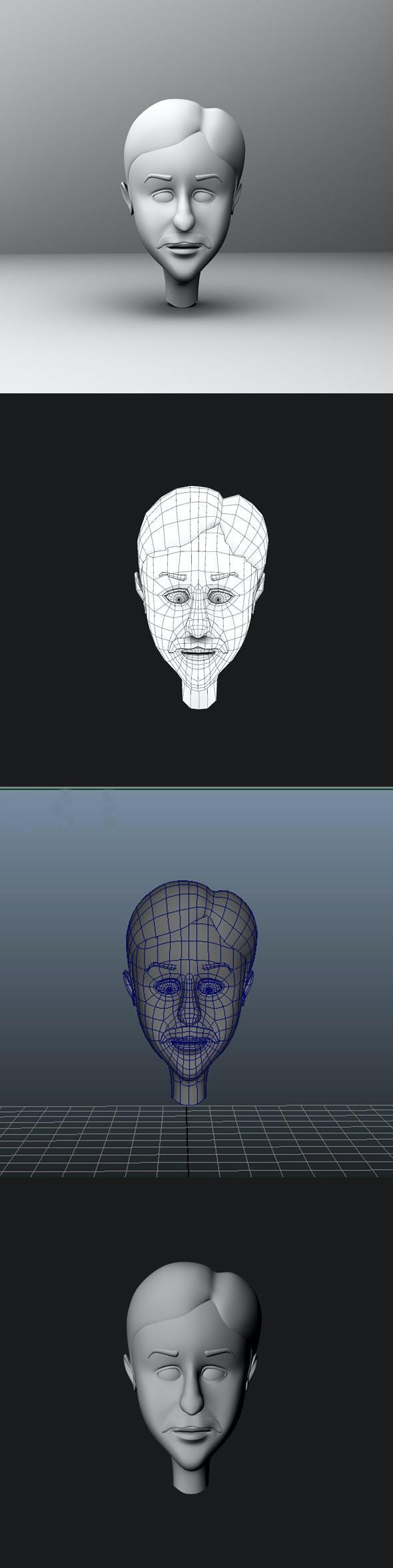 Base Mesh Cartoon Character  Head - 3DOcean Item for Sale