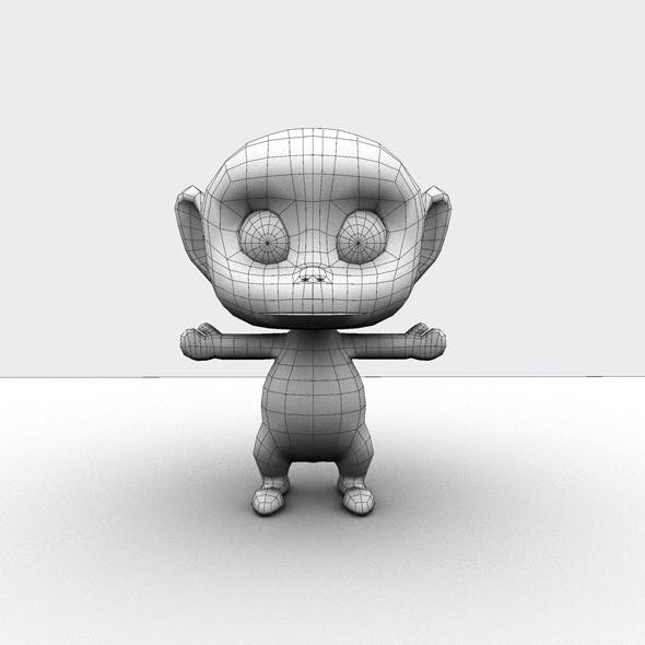 Low Poly Monkey