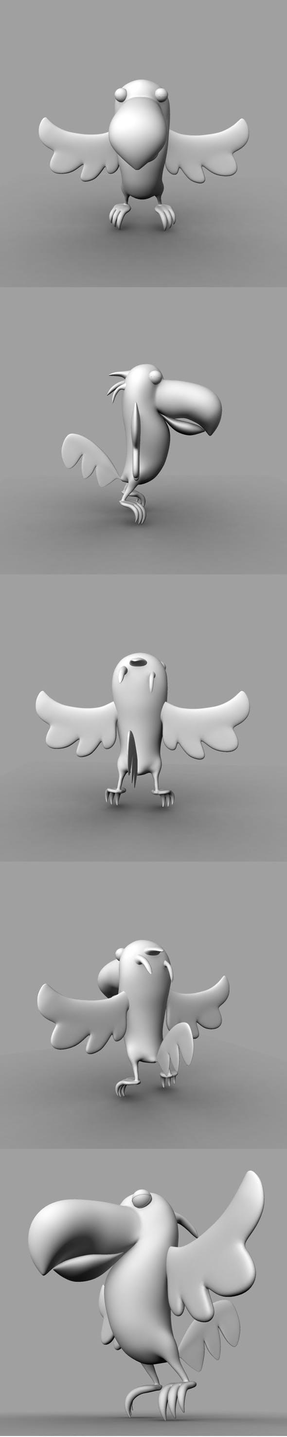Cartoon Bird Model - 3DOcean Item for Sale