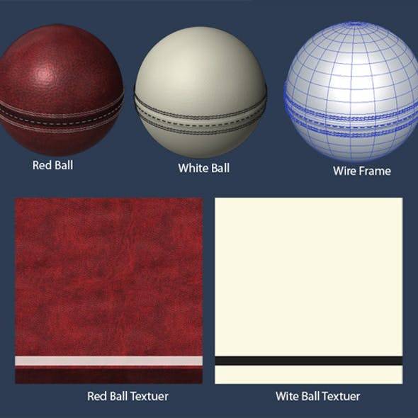 Cricket Ball (Red,White)