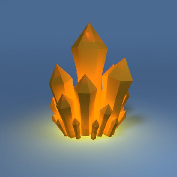 Low poly mineral crystal