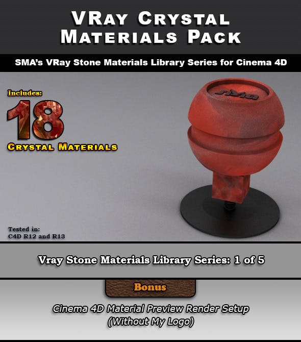 18 VRay Crystal Materials for Cinema 4D - 3DOcean Item for Sale