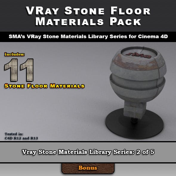 11 VRay Stone Floor Materials for Cinema 4D