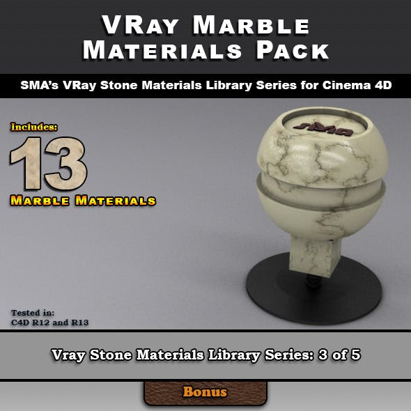 13 VRay Marble Materials for Cinema 4D