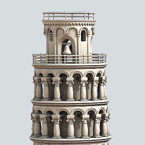 Cartoon Tower of Pisa