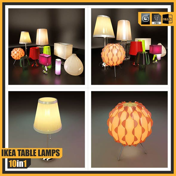 IKEA TABLE LAMPS ::: 10 in 1