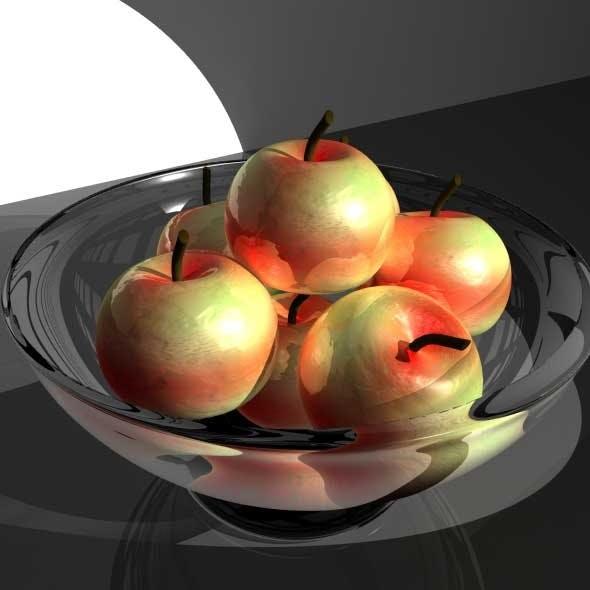 Apple Fruit Bowl - 3DOcean Item for Sale