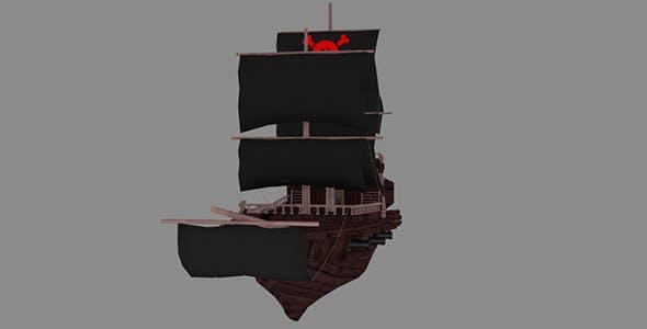Medium Detail Pirate Ship - 3DOcean Item for Sale
