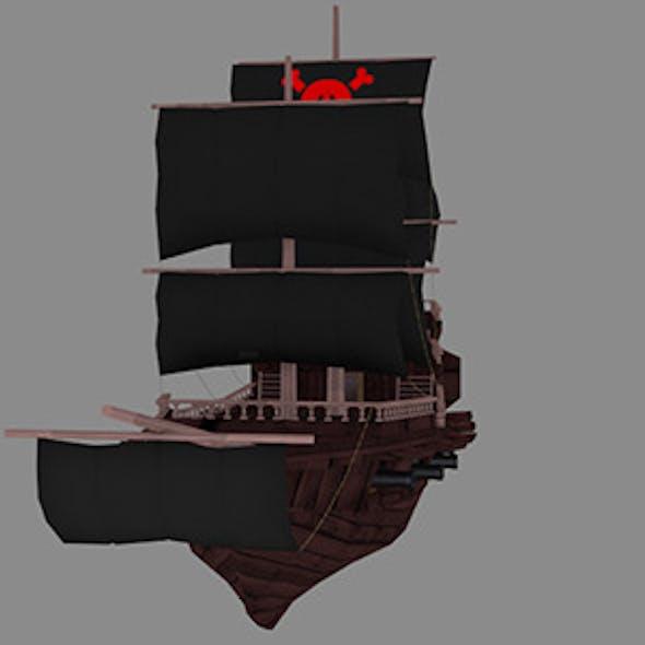 Medium Detail Pirate Ship