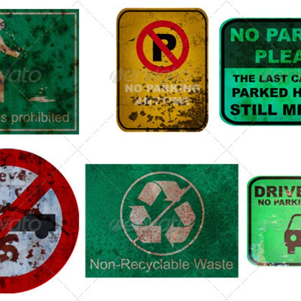 22 Traffic Sign Textures