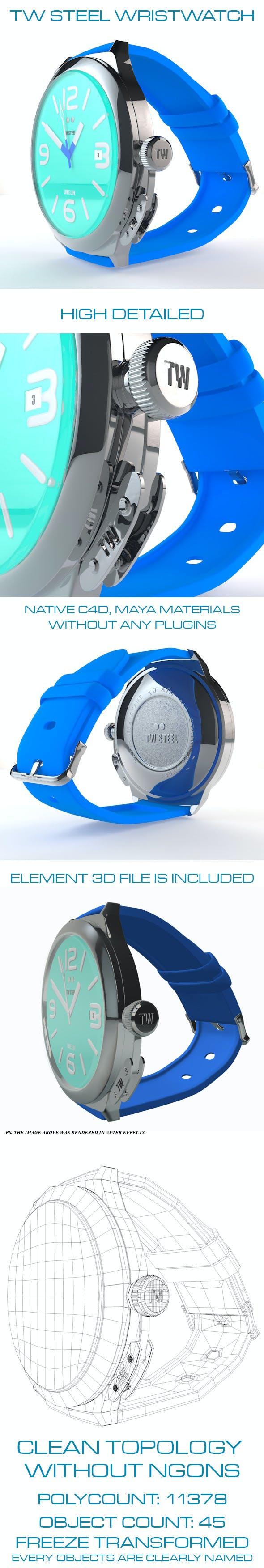 TW Steel Wristwatch TW915 - 3DOcean Item for Sale