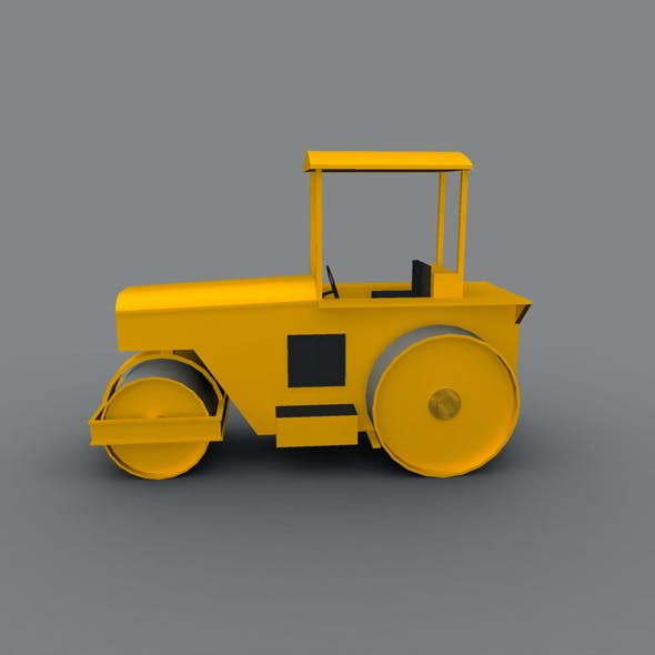Low Poly Road Roller