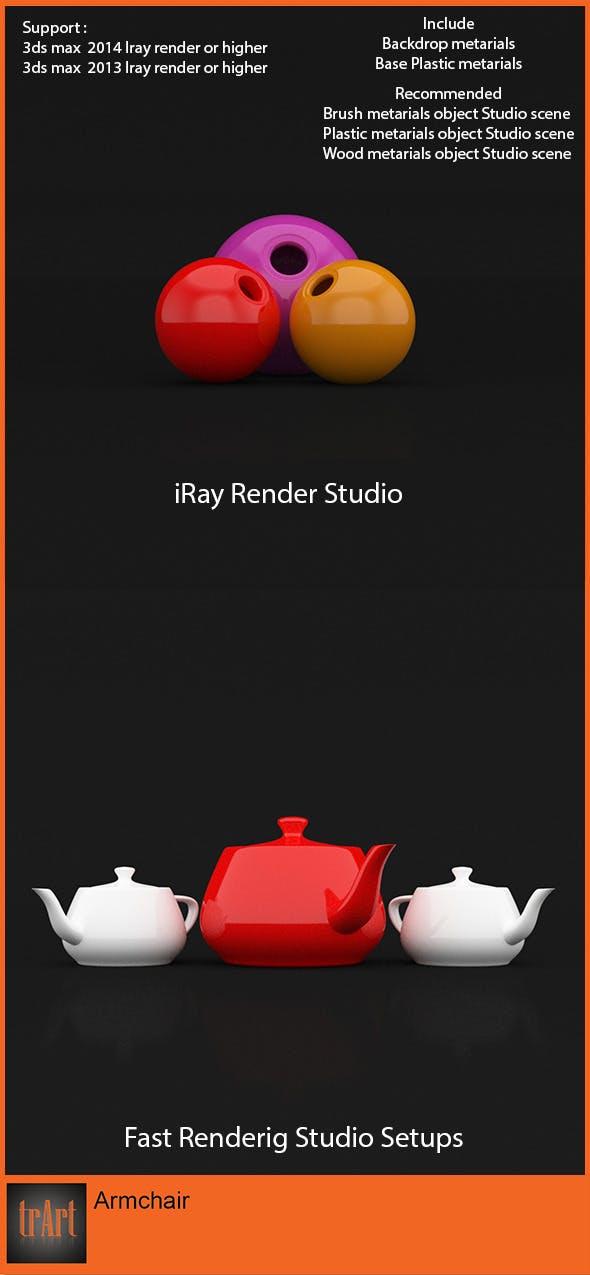 3ds max iRay professional lighting studio - 3DOcean Item for Sale