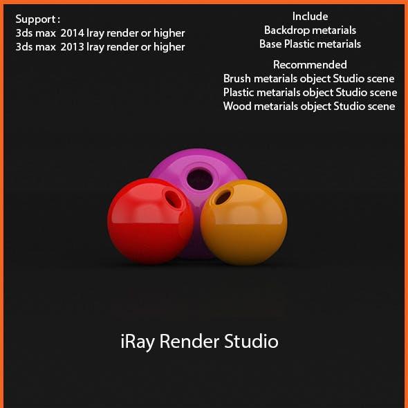 3ds max iRay professional lighting studio