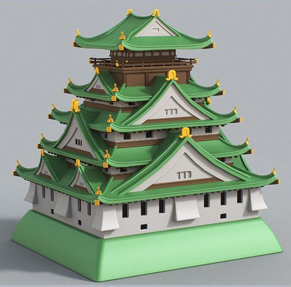 Cartoon Osaka Castle - 3DOcean Item for Sale