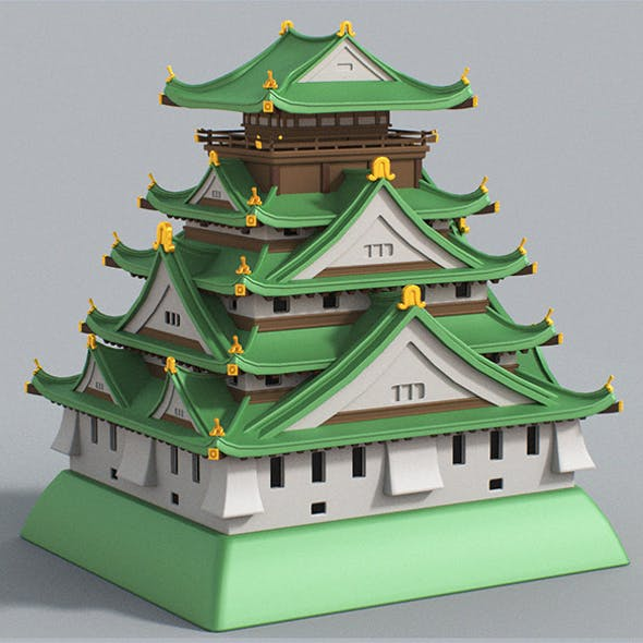Cartoon Osaka Castle