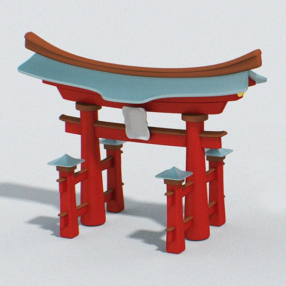 Cartoon Japan Torii