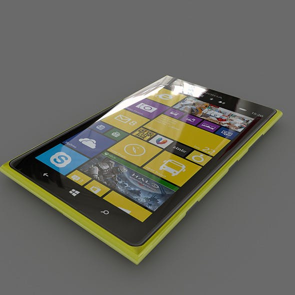 Nokia Lumia 1520 (Yellow)	 - 3DOcean Item for Sale
