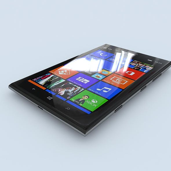 Nokia Lumia 1520 (black)	 - 3DOcean Item for Sale