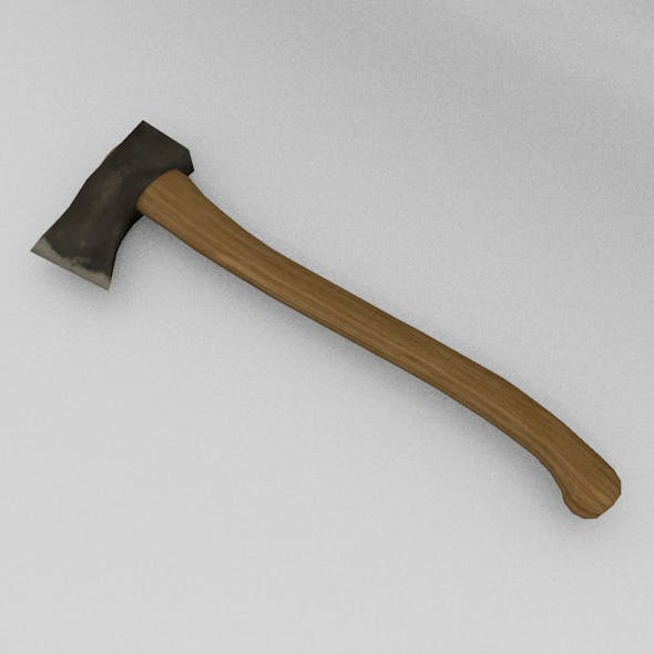 Axe Low-Poly - 3DOcean Item for Sale