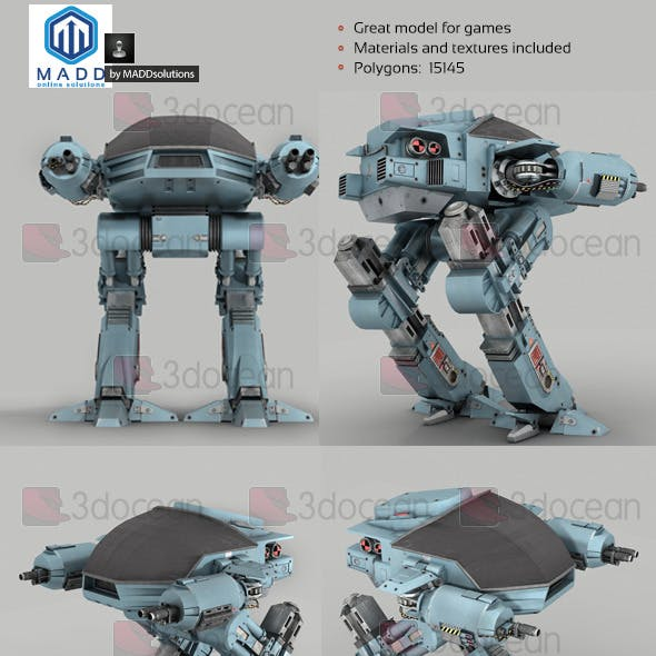 Robot ED-209 - 15145 polys